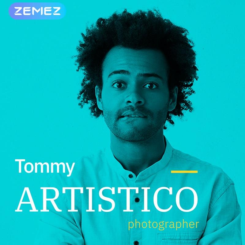 WordPress шаблон Tommy Artistico - Photographer Gallery Elementor