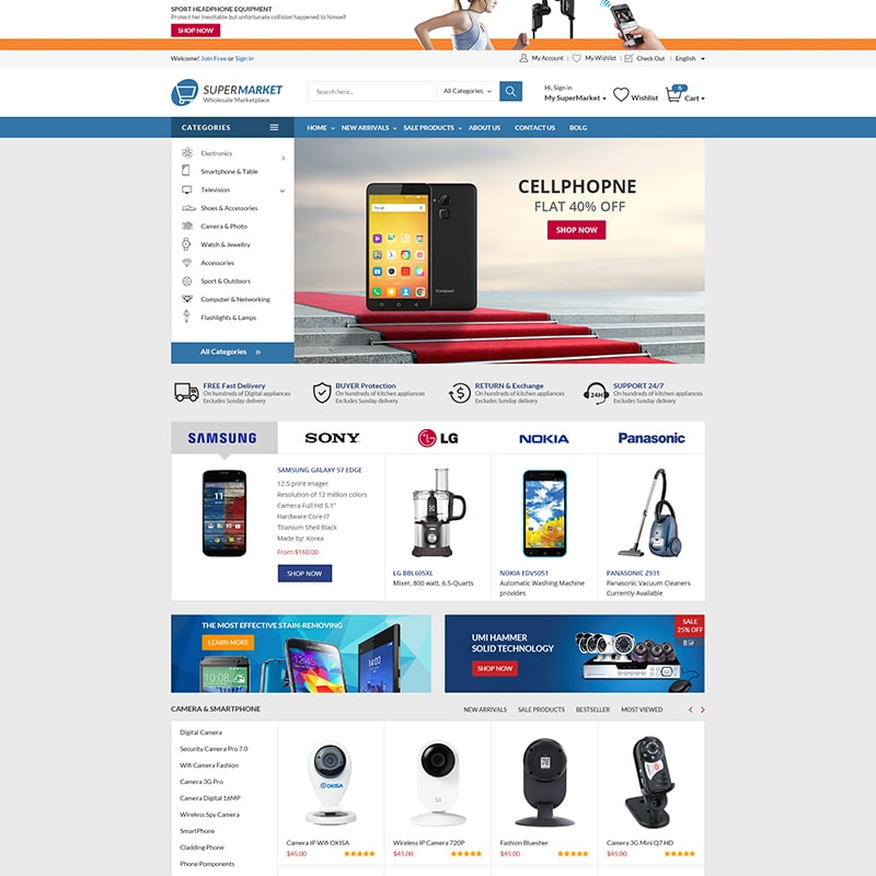 WooCommerce шаблон Supermarket - The Best Store