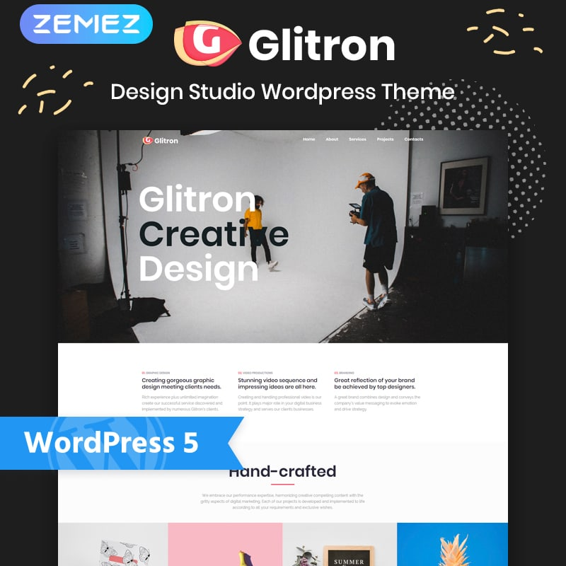 WordPress шаблон Giltron - Design Studio Elementor