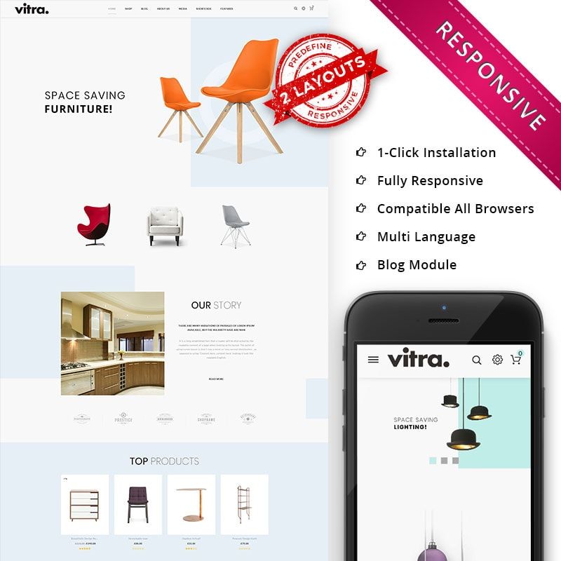 WooCommerce шаблон Vitra - The Multipurpose Responsive