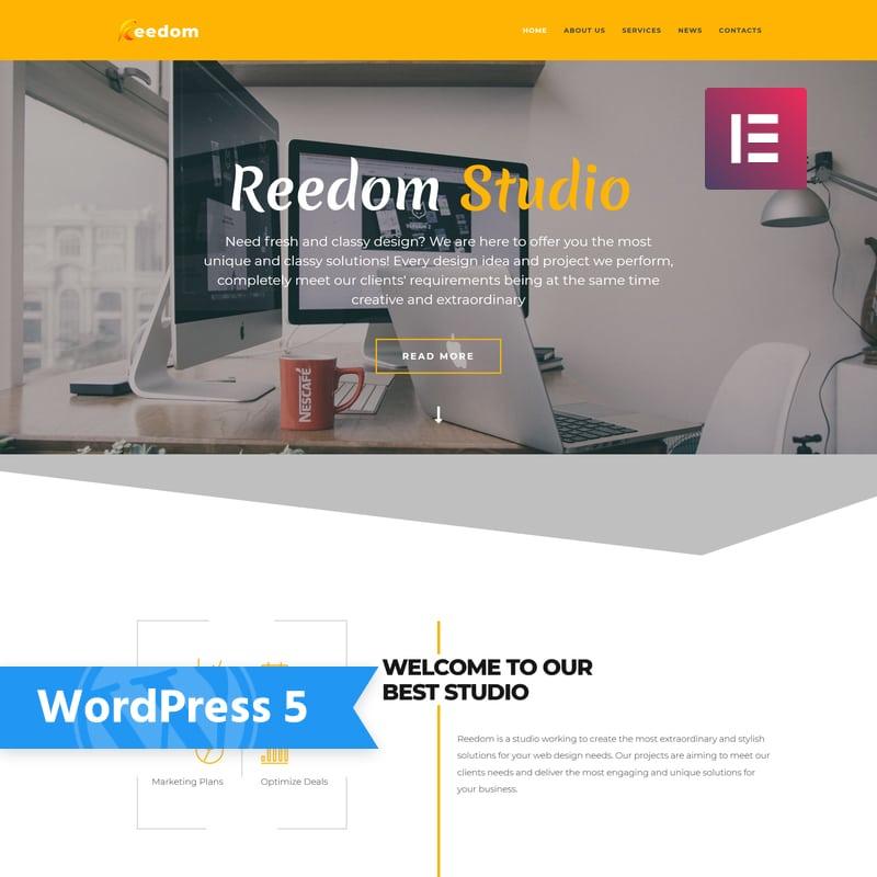 WordPress шаблон Reedom - Web Design Studio Multipurpose Minimal Elementor