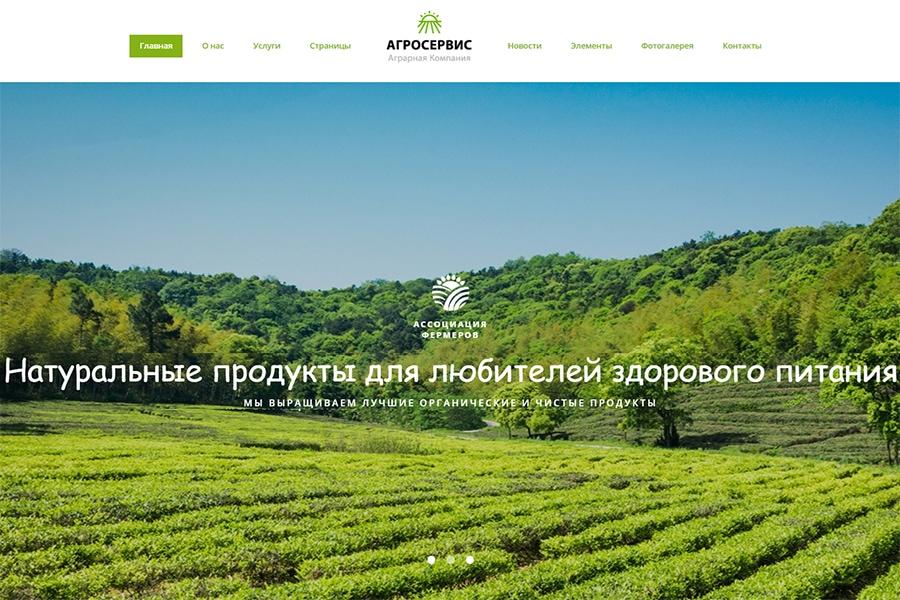 Агросервис - готовий многостраничный HTML Ru шаблон сайта органической еды