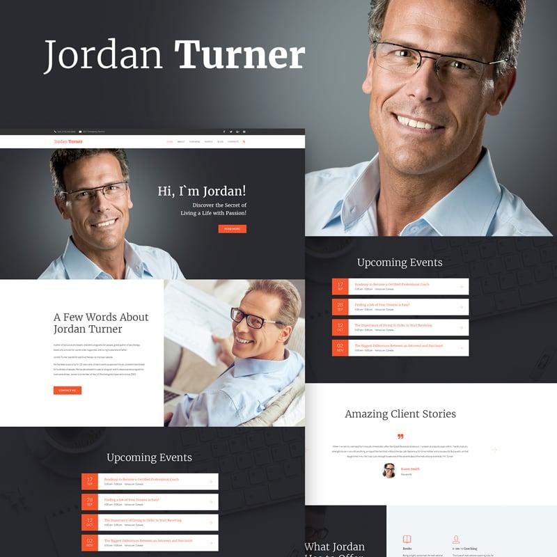 WordPress шаблон Jordan Turner - Life Coaching
