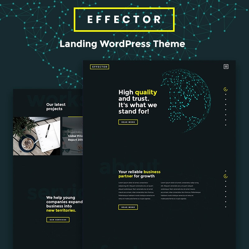 Effector - Elementor WordPress шаблон лендинга
