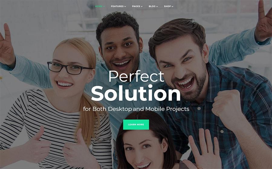 Многофункциональный Elementor WordPress шаблон бизнес-сайта
