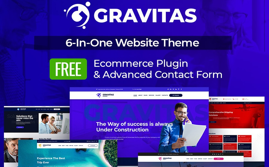 MotoCMS 3 шаблон Gravitas Multipurpose Business