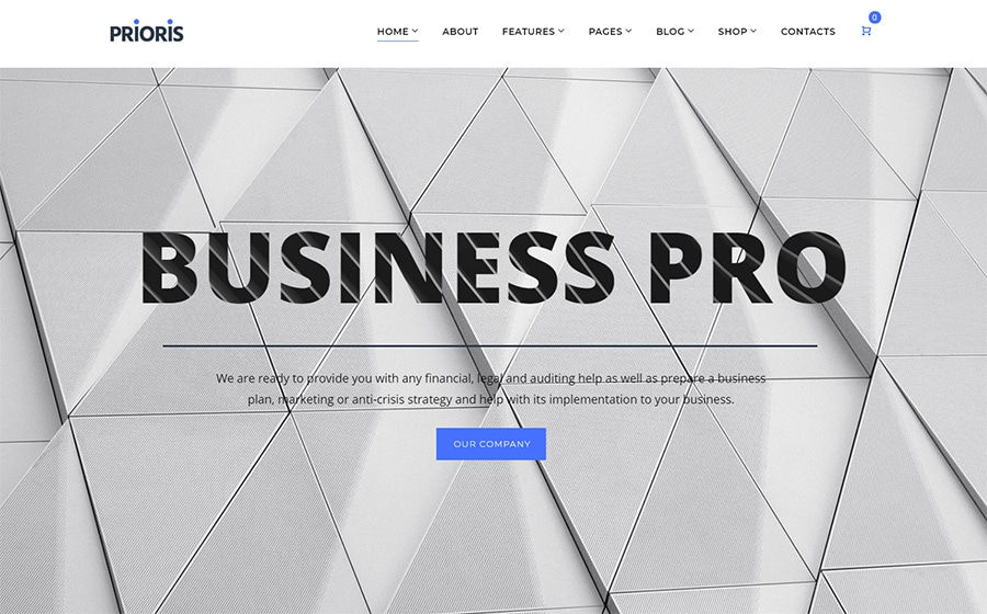 WordPress шаблон Prioris - Consulting Agency Elementor