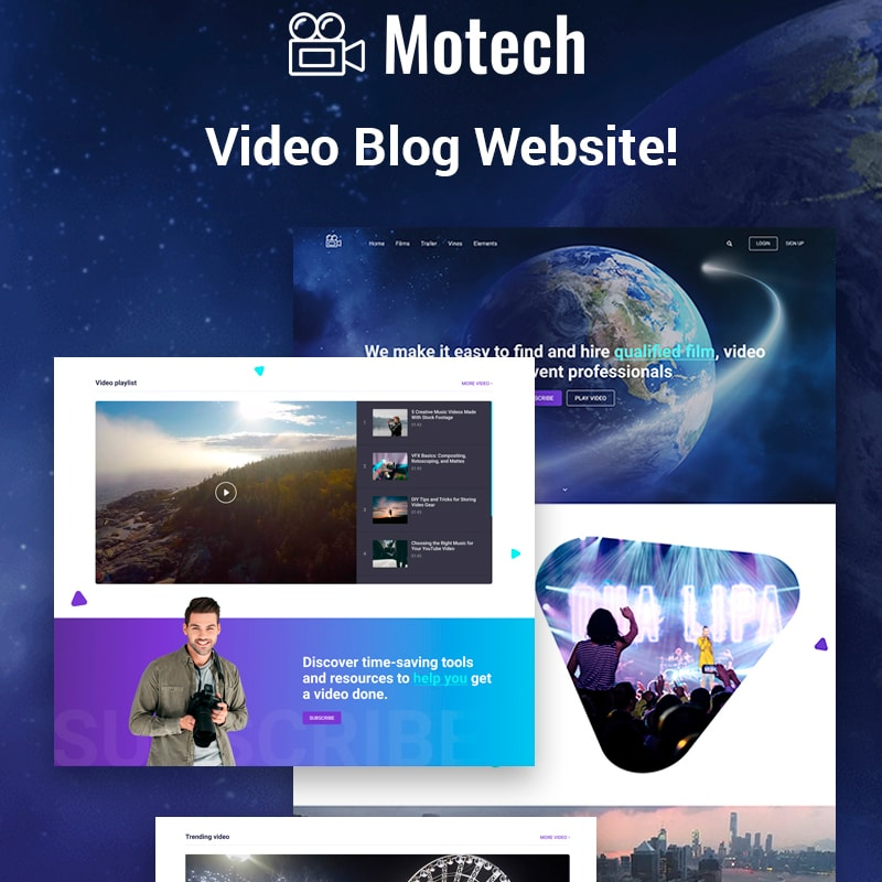 WordPress шаблон Motech - Video Agency Multipurpose Creative Elementor