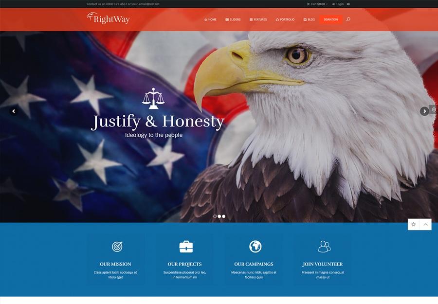 Right Way   Political WordPress Theme