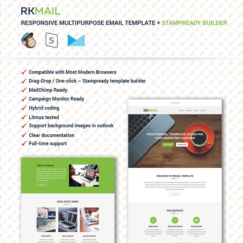 RKMail - Адаптивный многоцелевой еmail шаблон рассылки