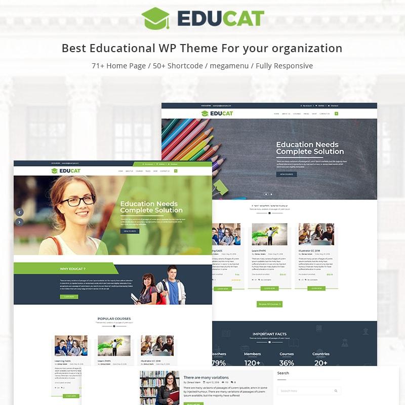 WordPress шаблон Educat - Education