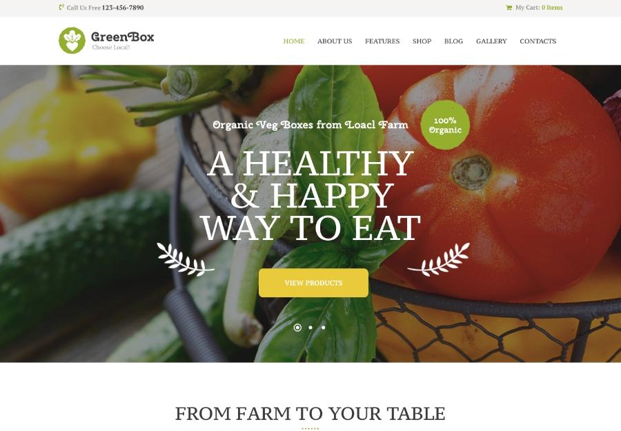 20 шаблонов WordPress для тренеров по питанию и здоровому образу жизни