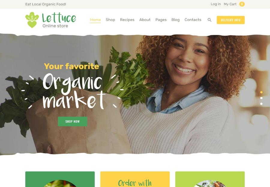 Lettuce | Organic Food & Eco Products WordPress Theme