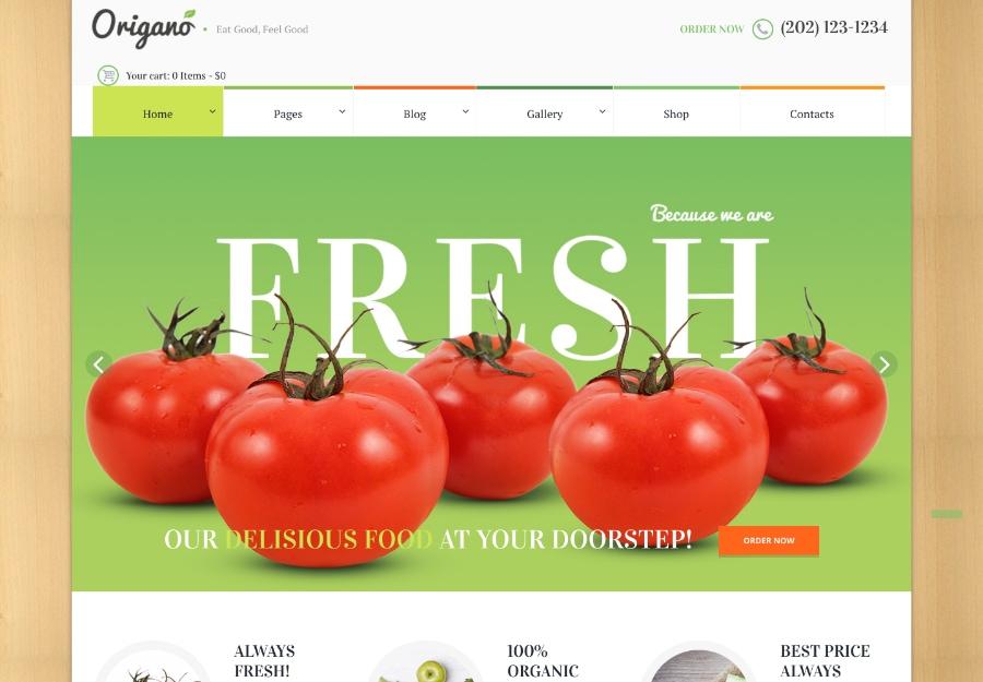 Origano - Organic Food & Eco Farm WordPress Theme